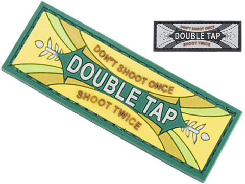 Matrix Double Tap PVC Morale Patch (Color: Green)
