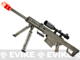 Snow Wolf Custom Long Range Airsoft AEG Sniper Rifle (V.2 Gearbox) (Package: Tan / Short Barrel / Rifle and Bipod Only)