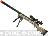 Snow Wolf US Army M24 Airsoft Bolt Action Scout Sniper Rifle (Color: Jungle Camo)