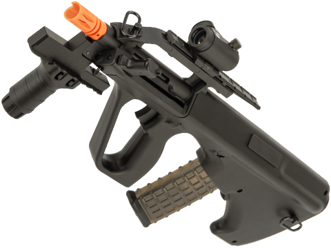 Snow Wolf AUG Civilian Model Bullpup Airsoft AEG Rifle (Color: Black / CQB Tactical)