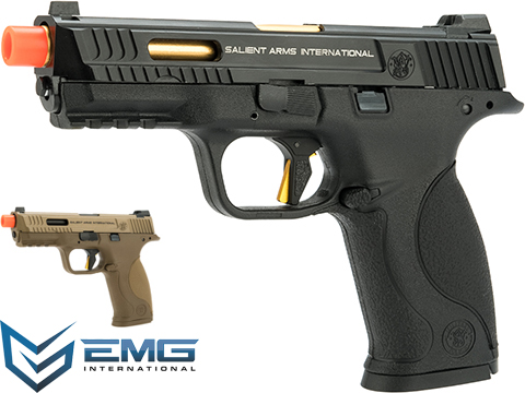 EMG / SAI / Smith & Wesson Licensed M&P 9 Full Size Airsoft GBB Pistol with Enhanced Angel Custom Trigger