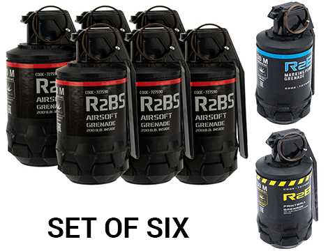 TAGinn R2B Airsoft Pyrotechnic Hand Grenade (Type: R2Bs / Set of 6)