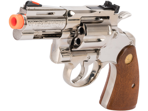Tanaka Colt Python .357 Gas Powered Airsoft Revolver (Model: 3 R-Model / Bright Nickel Plated Finish)