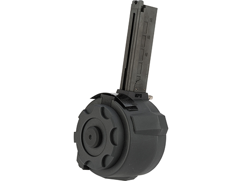 TAPP Airsoft HPA Tapped Flashmag Winding Drum Magazine for Gas Powered Airsoft Guns (Model: KWA MP9 / Short)
