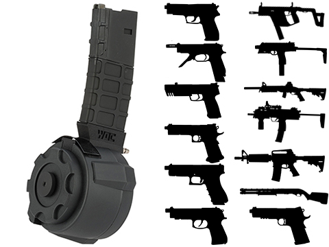 TAPP Airsoft HPA Tapped Electric Winding Drum Magazine for Gas Powered Airsoft Guns