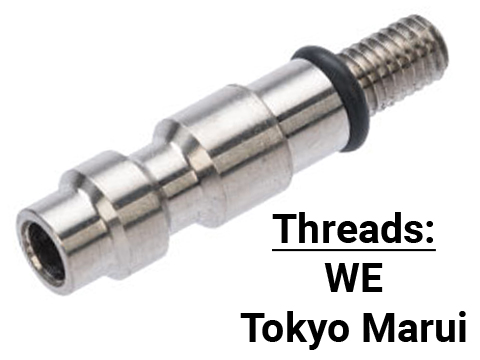 TAPP Airsoft Titanium HPA Tap for Gas Powered Airsoft Guns (Type: WE Thread)