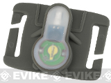 FMA S-Lite Horizontral IFF Strobe LED for MOLLE - Foliage Green Buckle / Green Strobe