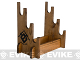 Evans Sports Traditional Solid Wood Rifle / Gun Rack (Capacity: 3 Long Guns)