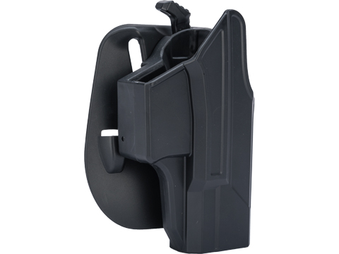 TEGE Injection Molded Hard Shell Pistol Holster (Model: GLOCK 19, 23, 32 Gen 1-4 / Right Hand / Belt Paddle)