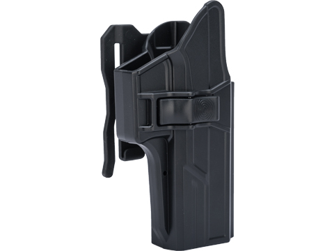 TEGE Injection Molded Hard Shell Pistol Holster (Model: GLOCK 17, 22, 31 Gen 1-5 / Right Hand / MOLLE Attachment)