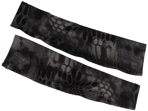Warchief Elastic Camo Sleeves (Color: Police Black Python / Medium)