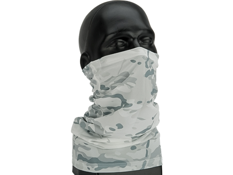 Adjustable Face Mask with Elastic Strap (Color: Snow Camo)