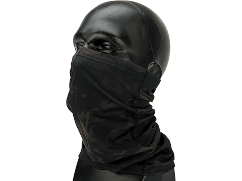 Phantom Gear Adjustable Face Mask with Elastic Strap (Color: Black Fire Camo)