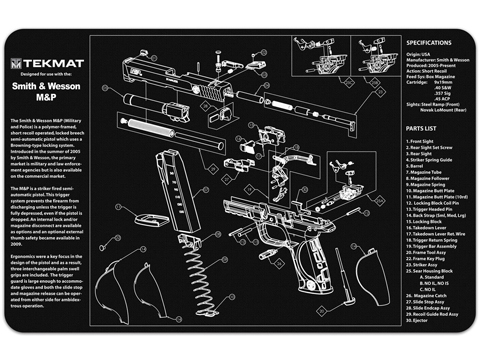 TekMat Armorer's Bench Gun Cleaning Mat (Model: Smith and Wesson M&P)