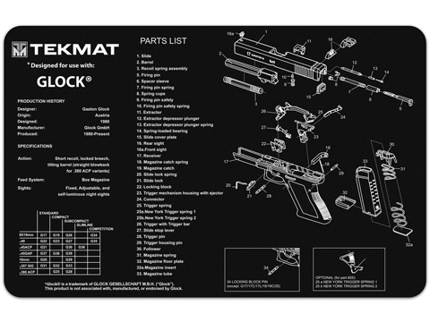 TekMat Armorer's Bench Gun Cleaning Mat (Model: GLOCK 17)