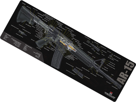 TekMat Armorer's Bench Gun Cleaning Mat (Model: ARF15 Cutaway)