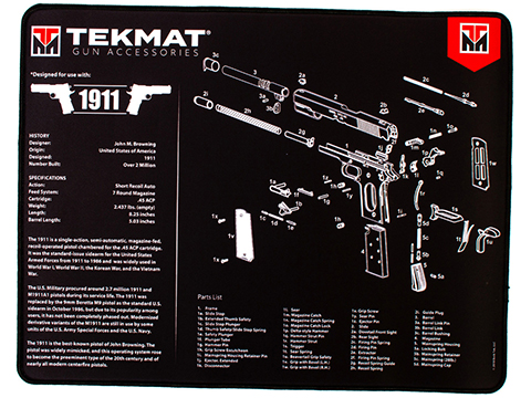 TekMat Armorer's Ultra Bench Gun Cleaning Mat (Model: 1911)