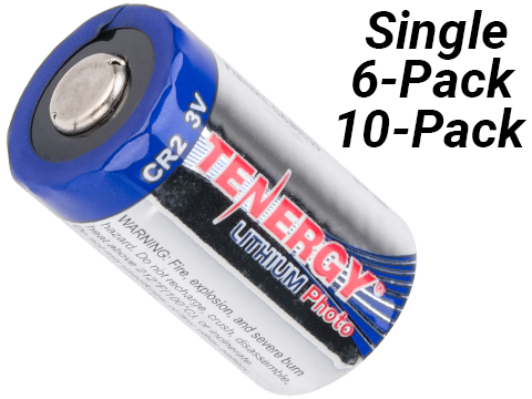 Tenergy High Performance Lithium 3V 750mAh CR2 Batteries