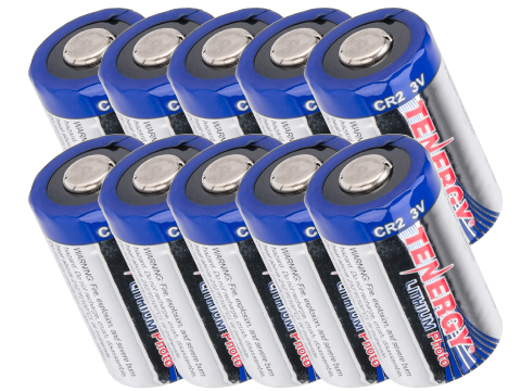Tenergy High Performance Lithium 3V 750mAh CR2 Batteries (Quantity: Pack of 10)