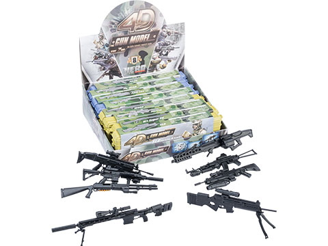 Tengyang 1/6th Scale Model Assorted Gun Pack (Model: Assault Weapons w/ Miniature Carrying Cases)