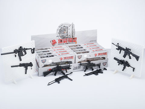 Tengyang 1/6th Scale Model Assorted Gun Pack (Model: CQB Weapons w/ Miniature Display Stands)