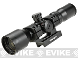 TruGlo TG8539TL 3-9x42 Illuminated Tactical AR Rifle Scope w/ Scope Mount - Mil-Dot