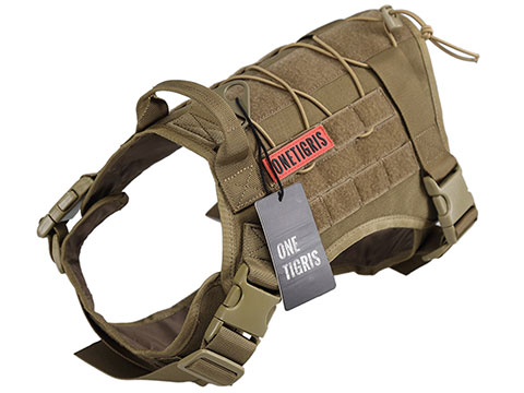 OneTigris Fire Watcher Dog Harness (Color: Coyote Brown / Large)