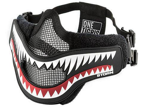 OneTigris x Storm Foldable Mesh Half-Face Mask (Color: Black)