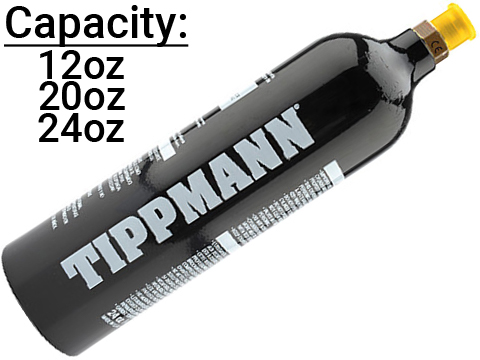 Tippmann Aluminum CO2 Tank with Repeater (Capacity: 24oz)