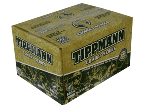 Tippmann Combat Paintballs - Case of 2000