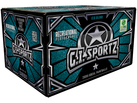 G.I. Sportz One Star Paintballs - Case of 2000