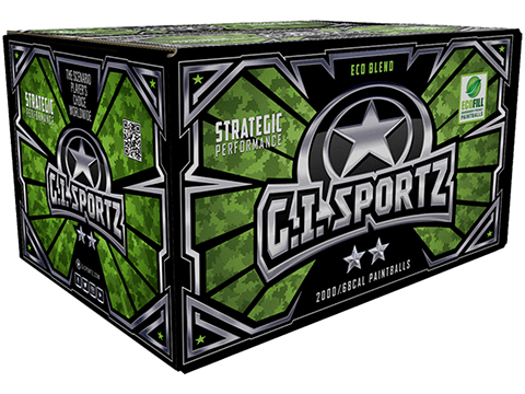 G.I. Sportz Two Star Paintballs - Case of 2000