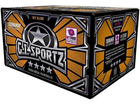 G.I. Sportz Four Star Paintballs - Case of 2000