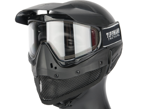 Tippmann Tactical Mesh Full Seal Airsoft Mask with Fog Resistant Thermal Lens