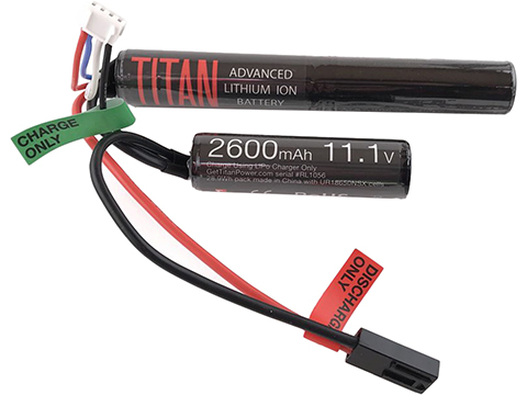 Titan Power 11.1v 2600mAh 10C Nunchuck Type Li-Ion Battery (Connector: Small Tamiya)