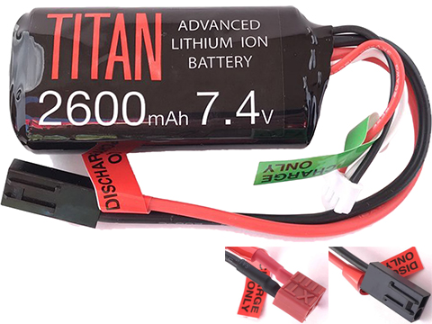 Titan Power 7.4v 2600mAh 10C Brick Type Li-Ion Battery