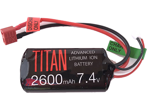 Titan Power 7.4v 2600mAh 10C Brick Type Li-Ion Battery (Connector: Standard Deans)