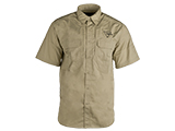 Trijicon Short-Sleeve Tactical Button Down Shirt - Khaki (Size: Small)