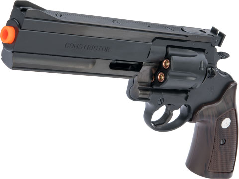 Marushin Colt Constrictor .44 Gas Powered Airsoft Revolver (Color: Matte Black / ABS)