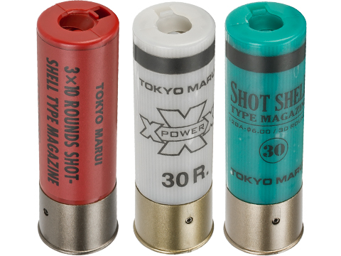Tokyo Marui 30rd Shotgun Shells for TM Style Airsoft Shotguns (Color: Red / Pack of 2)