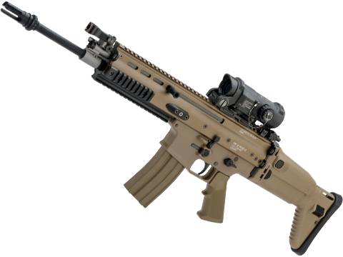 Tokyo Marui Next Generation Recoil Shock System FNH Licensed SCAR-L / MK16 AEG Rifle (Color: Flat Dark Earth / MOD-0)
