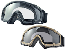 TMC 1655 Full Seal Goggles with Case (Color: Black)