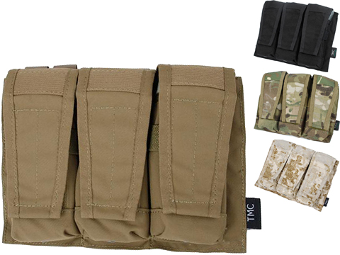 TMC MOLLE AVS Style M4 / M16 Triple Mag Pouch (Color: Coyote Brown)