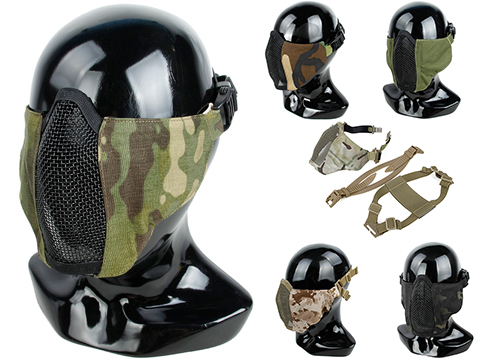 TMC PDW Ver2 Half Face Soft Mask w/ Steel Mesh (Color: Multicam)