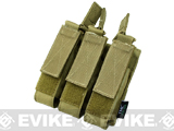 TMC Tactical MOLLE Triple SMG Magazine Pouch (Color: Khaki)