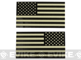 Matrix IR Reflective United States  PVC Flag Patch Set (Black and White)