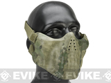Avengers Iron Face Skull Imprint Nylon Lower Half Mask - A-Tacs