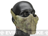 Avengers Iron Face Skull Imprint Nylon Lower Half Mask - Woodland Serpent