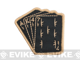 TMC Poker AK47 Hook and Loop Morale Patch - Black / Tan