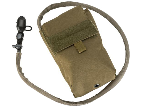 TMC 27oz Tactical MOLLE Double-Insulated Hydration Pouch with Bladder (Color: Coyote Brown)